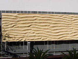 sand relief wall panel in sand colour, suitable for vertical sheet water features.
